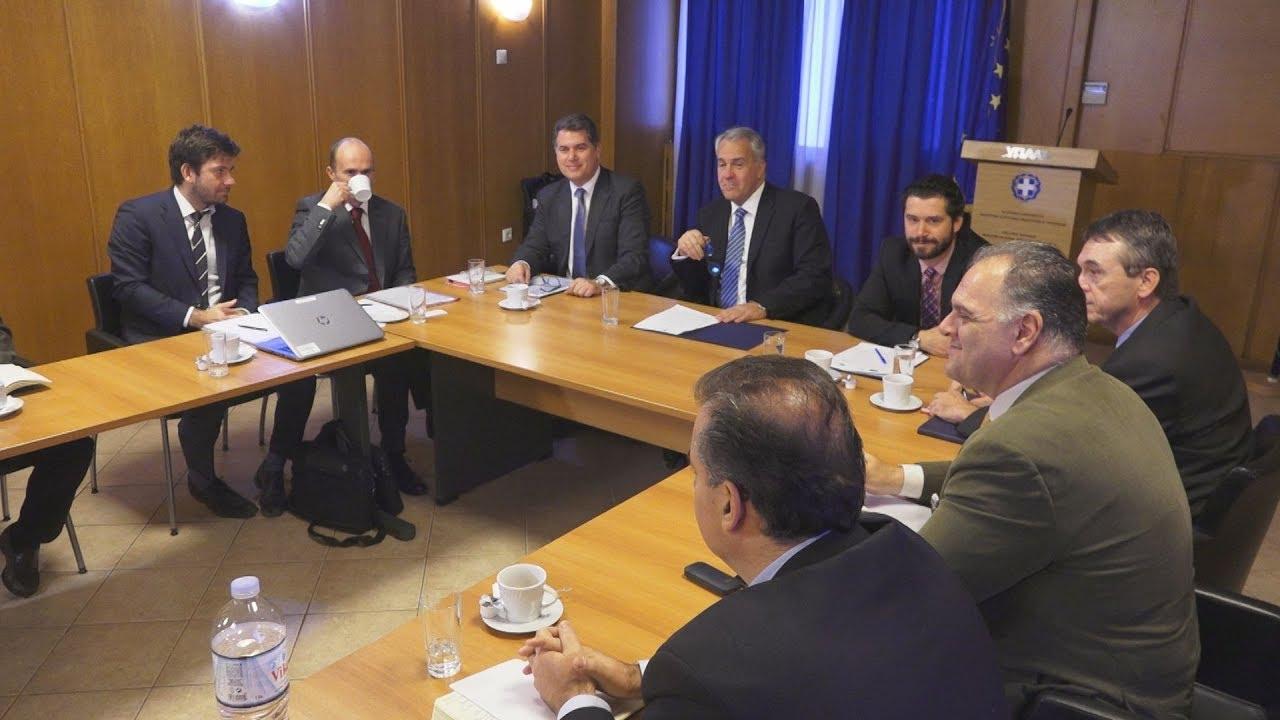 Σύσκεψη του Μάκη Βορίδη, με εκπροσώπους του Ευρωπαϊκού Ταμείου Επενδύσεων