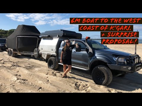 Towing a 6m Boat to Fraser Island's (K'gari) West Coast + Surprise Proposal!