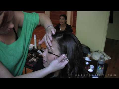 Getting Julissa Bermudez camera ready for her scene