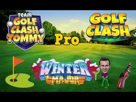 Golf Clash tips, Playthrough, Hole 1-9 - PRO - TOURNAMENT WIND! Winter Major Tournament!