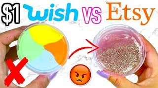 Video $1 WISH SLIME VS $1 ETSY SLIME! Which Is Worth It?!? MP3, 3GP, MP4, WEBM, AVI, FLV Desember 2018