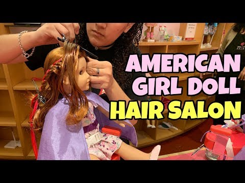 American Girl Doll Gets New Hairstyle at AG Hair Salon