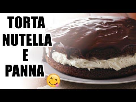 torta nutella e panna - morbida, facile e veloce