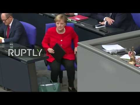 Live: Merkel gives speech on government policy at German parliament