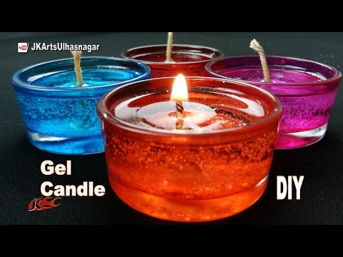 DIY Making Gel Candles at home | How to make | JK Arts 1089