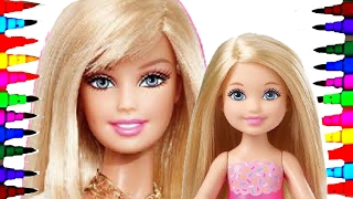 Barbie and Chelsea BEST LEARNING Coloring Book l Page For Children Learning Rainbow Colors Videos