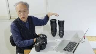 写真家 三浦健司が、Nikonの新レンズ、超望遠ズーム200-500㎜ をTAMRON SP 150-600mm と比較します。 まずは外観、重量など。