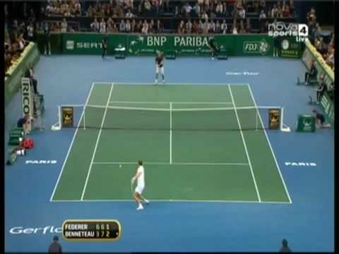 Julian Benneteau vs Roger Federer - Paris 2009
