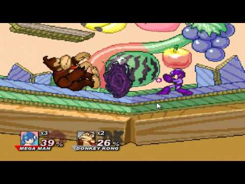 Super Smash Flash 2 Demo v0.8b Megaman vs All Characters Part 1