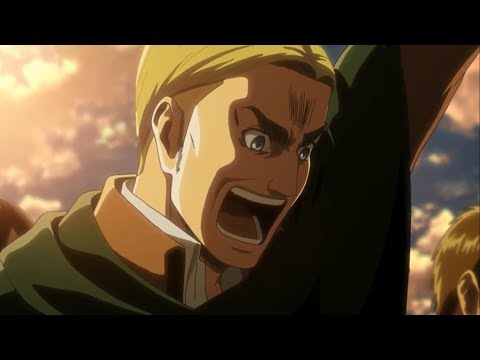 Shingeki No Kyojin (Attack On Titan) Season 3 Episode 12 -  Erwin Smith Epic Scream