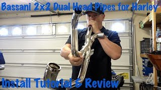 We show you exactly how to install Bassani 2x2 Dual head pipes on a Harley Davidson touring motorcycle. This header system gets rid of your catalytic converter (cat), opening up the flow, increasing power & sound, & greatly reducing heat on the rider. Cats create a large amount of heat.Note: Always check your local, state, and federal laws regarding motorcycle exhaust systems.LINK TO PRODUCT IN THIS VIDEO:REVZILLA AFFILIATE LINK (SUPPORT US): http://bit.ly/2uw1NEMGET VANCE & HINES PRODUCTS IN OUR OFFICIAL STORE HERE: https://shop.lawabidingbiker.com/collections/air-fuel-exhaustBECOME A PATRON MEMBER AND GET BENEFITS: https://www.patreon.com/scrappySEE V&H TITAN 450 OS SLIP ON MUFFLER INSTALL VIDEO HERE: https://youtu.be/BxpzyvoqHQE?list=PL4h75QClVvqPgMQV7VAyPxoPCzoceb3qZVISIT OUR OFFICIAL STORE HERE: https://shop.lawabidingbiker.comDYNOJET POWER VISION EFI TUNER VIDEO: https://gumroad.com/l//powervisionV&H FUELPAK3 EFI TUNER TUTORIAL VIDEO: https://youtu.be/pQkbnUyPIYY?list=PL4h75QClVvqPgMQV7VAyPxoPCzoceb3qZGET BUGSLIDE WATERLESS CLEANER/PROTECTOR HERE: https://shop.lawabidingbiker.com/collections/bugslideThe Bassani pipes are nice because they are basically the exact same as the stock Harley head pipes minus the catalytic (cat) converter. This opens up the flow of exhaust, creates power & sound, and significantly cuts down on the heat on a rider. They also re-use the stock chrome heat shields, which saves you money. These headers have both 18mm and 12mm O2 sensor ports. You can use your stock Harley o2 sensors with these headers. If you want to change your O2 sensors out and usewide-band O2 sensors then you can use the larger 18mm ports. Plugs come with the headers for 12mm and 18mm, so you can plug one set off.Putting these headers on increased the sound of Lurch's bike, because of the cat now being gone. It also increased performance & cut out a ton of heat. Lurch was already running V&H Titan 450 OS slip-on mufflers.Remapping your motorcycle's Electronic Fuel In