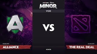 [RU] Alliance vs The ReaL DeaL, EU Qualifiers, StarLadder ImbaTV Dota 2 Minor