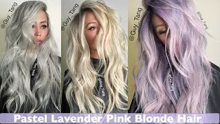 Pastel Lavender Pink Blonde Hair make-over - YouTube