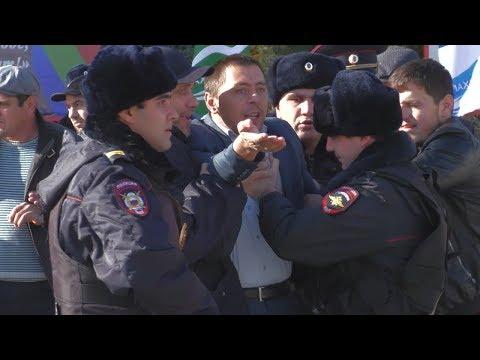 Протестующих погорельцев из Мокока задержали в столице Дагестана