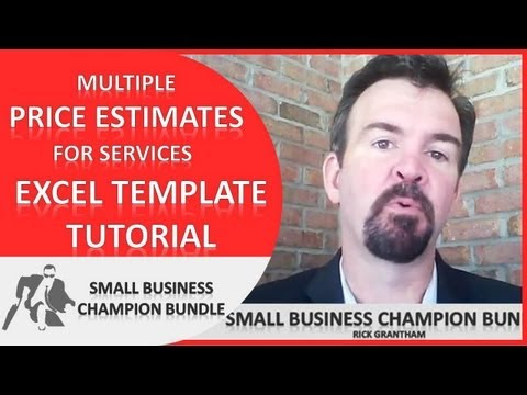 Quote Excel Template - Multiple Price Estimates for Services - Spreadsheet
