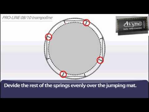AVYNA PRO-LINE 10 Combi-Pack Ø 3m05 | Montage trampoline