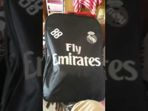 Real madrid bag and arsenal beg from malaysia