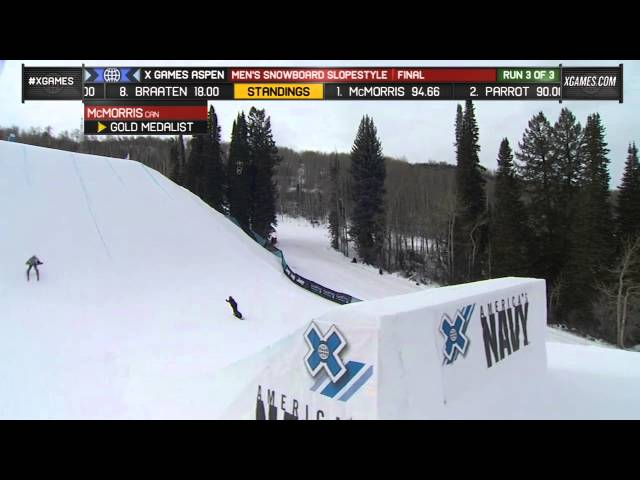 MARK McMORRIS' SLOPESTYLE GOLD RUN