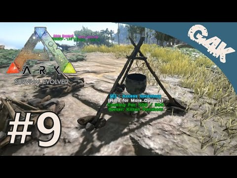 ARK Survival Evolved Gameplay Part 9 | Cooking Pot | With Kage848 And Aendams