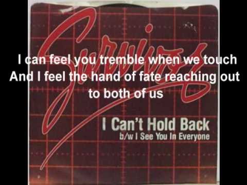 Survivor - I Can't Hold Back With Lyrics