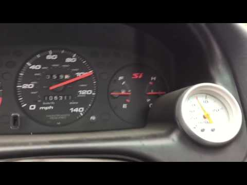 500hp 98 Turbo Civic 140mph Flyby/acceleration