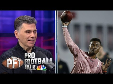 Dwayne Haskins powers through Ohio State Pro Day | Pro Football Talk | NBC Sports
