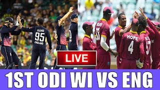 Live Score: West Indies vs England 1ST ODI 2019 I  live Streaming  I  WI Vs ENG Live Match