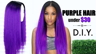 THUMBS UP for more ways to save your coins this summer! Today's video is how to make a flawless u-part wig & achieve purple hair in 30 minutes........ under $30 😱Check out my step-by-step Hot Glue Wig tutorial https://www.youtube.com/watch?v=5ldLxG2LJpsWelcome to my channel! I'm Jodian aka JODI, and I share my creative ideas through TheBrilliantBeauty by uploading hair tutorials, makeup looks, and fashion videos. My hope is to inspire you to try something new and be confident in the process._______________PRODUCTS MENTIONED / WHAT U NEEDStyrofoam mannequin headhttp://amzn.to/2obgAQLWig Caphttp://amzn.to/2nMHf2VMesh Dome Caphttp://amzn.to/2ohWGUDHot Glue Gunhttp://amzn.to/2ohGXouQue Malaysian (sure 🙄) Silk Press Yaky (Color OTPurple)14/16/18 http://amzn.to/2oNL3FK*I used 18/20/22 that I purchased from my local beauty supply*FYI the hair is made with premium synthetic fibers. I experienced much less shedding & tangling than normal for this brand.Wig Clips (optional)http://amzn.to/2ohFDlO_________________________________MY CROCHET BRAIDS VIDEOShttps://www.youtube.com/playlist?list=PL3wZ0hUMe2hJOJVzJwSMdl5oEahiLw_EbMY WIG-MAKING VIDEOShttps://www.youtube.com/playlist?list=PL3wZ0hUMe2hJHJI3BflCqDUZPrHXSdtBjMY MAILBOX!Jodi LaMont733 Delaware Rd #182Buffalo, NY 14223 USA⇣KEEP UP WITH MEINSTAGRAM: @thebrilliantbeautySNAPCHAT: brilliantb3autyTWITTER: @BrilliantJodianFACEBOOK: The Brilliant BeautyPINTEREST: The Brilliant Beauty--MY FILMING SETUP--Canon 80D http://amzn.to/2a3vnHQRing Light http://amzn.to/2arNbfAFor business inquiries only, contact ⇢ thebrilliantbeautybiz@gmail.comVideo is not sponsored.