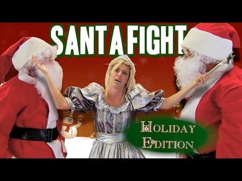 Fight - We're pretty sure both of these imposters made Santa's naughty list this year! http://gags.justforlaughs.com | Subscribe! http://goo.gl/67gcH Visit our siste...