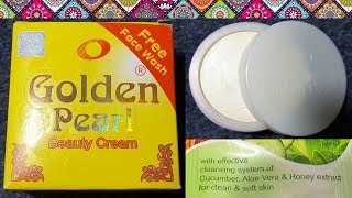Golden Pearl Beauty Cream Review | How to use, benefits, price, side effetcs | whitening cream
