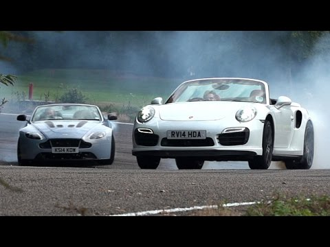 duel - Subscribe to the channel now: http://smarturl.it/autocar The Aston Martin V12 Vantage S Roadster is the convertible version of the British manufacturer's best and most desirable model. But...