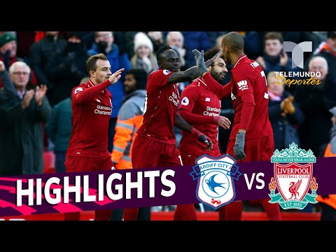 Liverpool Vs. Cardiff City: 4-1 Goals & Highlights | Premier League | Telemundo Deportes