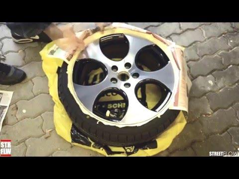 Foliatec Sprüfolie für Felgen auf GOLF 6 GTI Detroit 18 Zoll Alufelgen front poliert