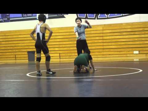 MTHS Varsity Wrestling 2011-2012 - Ayreole Clamens vs Franklin HS
