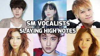 Video SM Entertainment Vocalists Slaying High Notes! Part 1| SM 엔터테인먼트 가수 : 고음모음 MP3, 3GP, MP4, WEBM, AVI, FLV Februari 2019