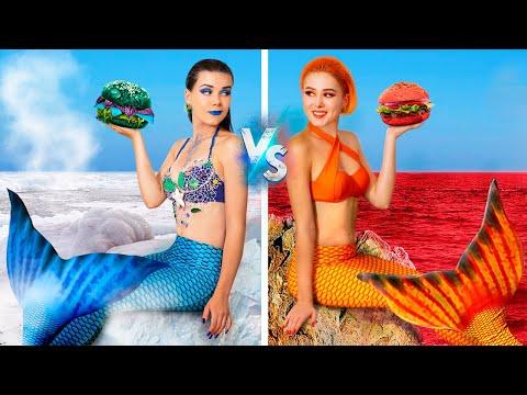 Hot vs. Cold Challenge - Feurige Meerjungfrau vs. Eisige Meerjungfrau