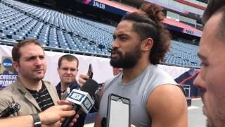 New England Patriots LB Harvey Langi on signing as an undrafted free agent.