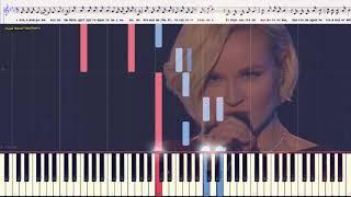Выше головы - Гагарина Полина (Ноты и Видеоурок для фортепиано) (piano cover)