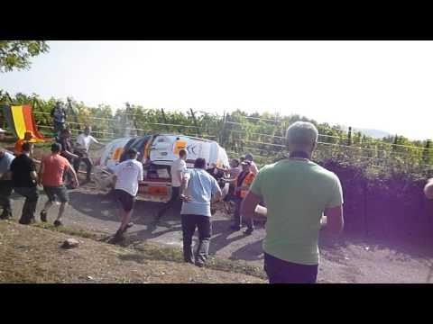 Crach safety car rallye de france 2014