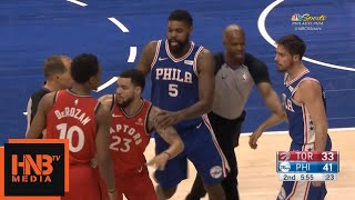 DeMar DeRozan & T.J. McConnell Skirmish / Sixers vs Raptors