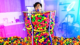 Download Youtube: TRAMPOLINE BALL PIT CANNONBALL!