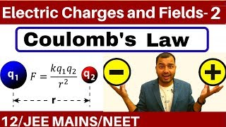 Electric Charges and Fields 02 || Coulomb's Law and Force Between Multiple Charges JEE MAINS/NEET