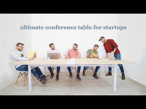 DIY Conference Table for Startups // Free Plans