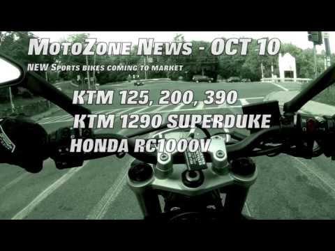 2014 KTM RC125, RC200, RC390 - MotoZone® News Oct 10 - (ep. 10) (видео)