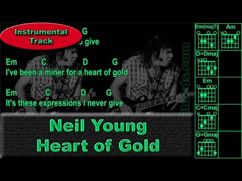 Neil Young - Heart of Gold - Instrumental - Guitar Chords (0016-B1)