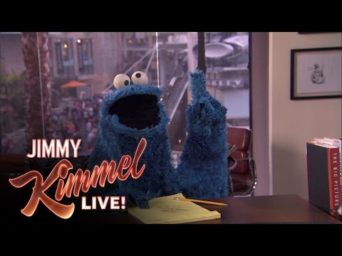 Cookie Monster Writes Jokes for Jimmy Kimmel