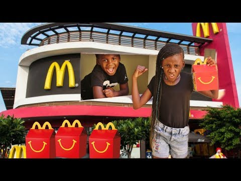 McDonalds Drive Thru Prank Power Wheels Ride On Car Kids Pretend Play