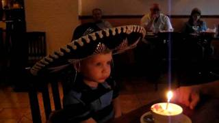 Luke's birthday song at the the mexican restaurant 5_2010