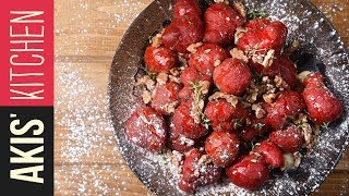 Red velvet honey dumplings - Loukoumades | Akis Kitchen by Akis Kitchen