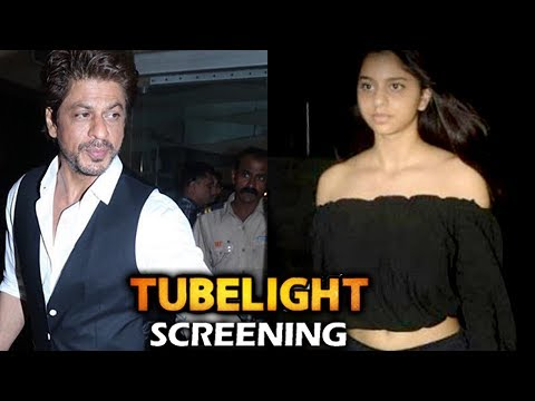 Shahrukh Khan With Daughter Suhana At Tubelight Sc